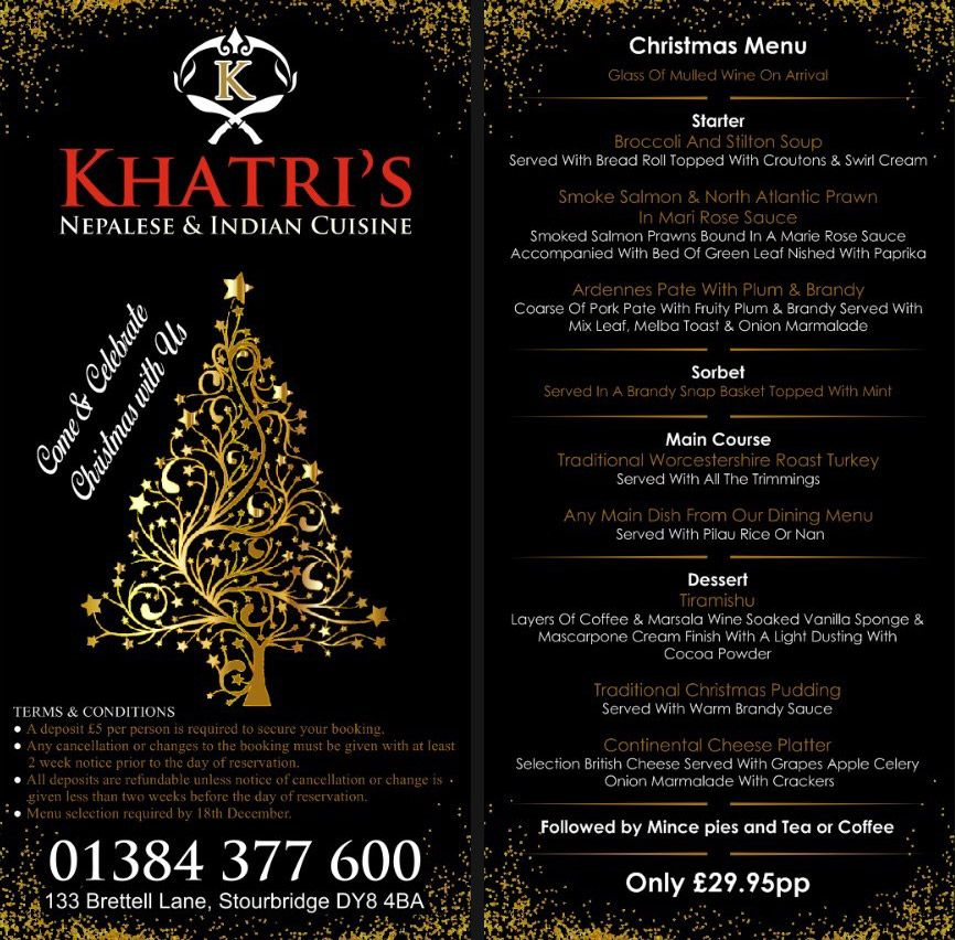 Book a table this Christmas at Khatris